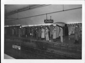 Estación Diagonal Norte, terminal provisoria de la línea entre 1934 y 1936 (AGN)