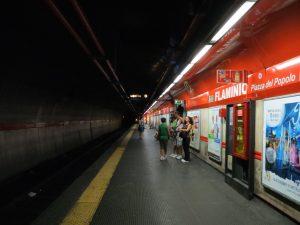 Estación Flaminio-Piazza del Popolo de la línea A (1980).