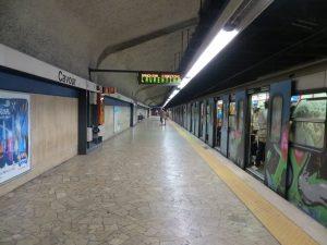 Estación Cavour de la línea B (1955).