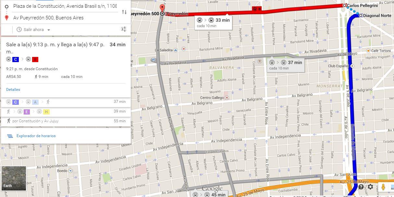 Google Maps Incorpora Las Líneas De Subte EnelSubtecom - Argentina subte map