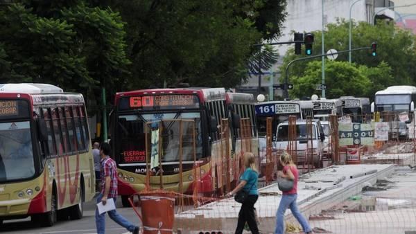 Obras del Metrobus en la avenida Cabildo