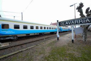 La formación a su paso por Olavarría.