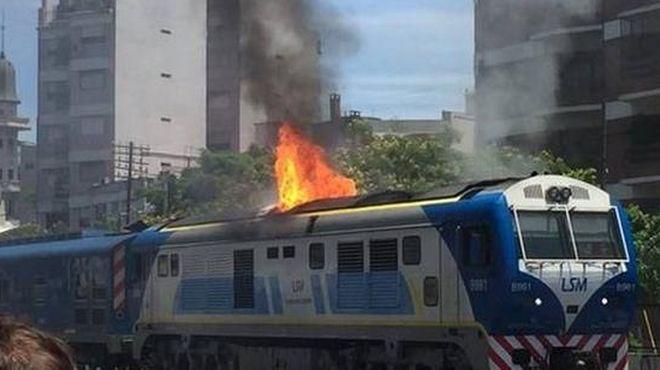 Resultado de imagen para incendio en locomotoras