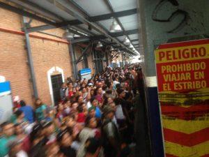 La estación Chascomús se vio desbordada el fin de semana de Carnaval. Foto: Franco González