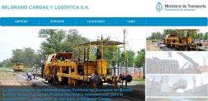 En el sitio de BCyL, el logo de Ferrocarriles Argentinos Cargas y Logística fue reemplazado por un texto plano con la razón social de la empresa.