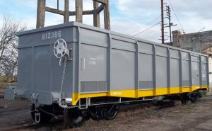 Vagón reparado por Consulting Ferroviario para Cargas y Logística en Justo Daract.