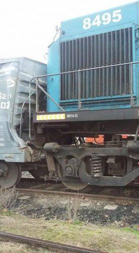 Efectos del impacto en el tren carguero.