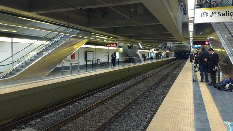 Andenes de la nueva estación