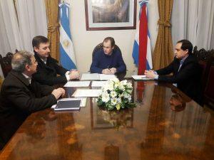 El intendente de Basavilbaso, reunido con el gobernador Bordet y funcionarios.