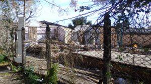 Viviendas demolidas en el predio de la subestación. Foto: Diario 5 Días.