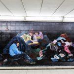 Pintan murales contra la trata de personas en Constitución