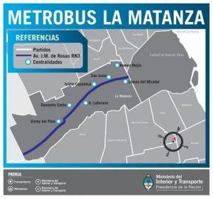 Afiche del Metrobús La Matanza que data de la gestión de Randazzo.