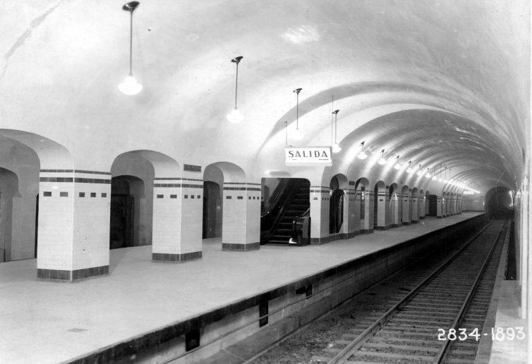 Estación Carlos Pellegrini, 1931. Fotografía: Archivo General de la Nación - Ministerio del Interior y Transporte