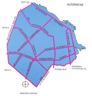 El Plan de Autopistas Urbanas del gobierno municipal de Cacciatore.