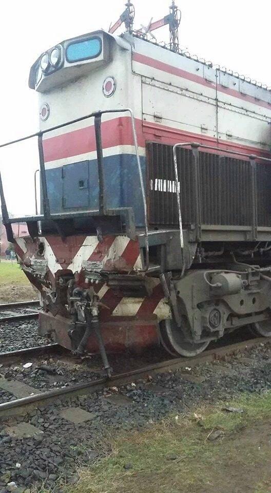 Estado en que quedó la locomotora de Ferrobaires.