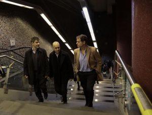 El jefe de Gobierno, Rodríguez Larreta, junto al ministro Moccia y el presidente de SBASE, Juan Pablo Piccardo.