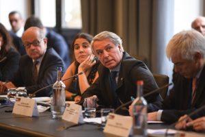 El presidente de Ferrocarriles Argentinos, Marcelo Orfila, habla ante empresarios alemanes.