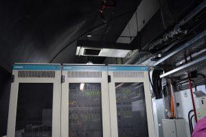 Sala de servidores en la estación Caseros.