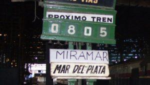 Los últimos trenes de Ferrobaires a Miramar corrieron en 2013.