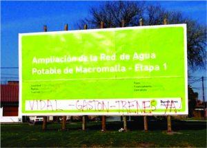 """""""Vidal - Gastón: Trenes ya!"""": sectores de la sociedad local responsabilizan al intendente y a la gobernadora por la suspensión."""