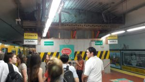 El segundo túnel, que permitirá pasar de la línea D a la línea H, continúa en obras.
