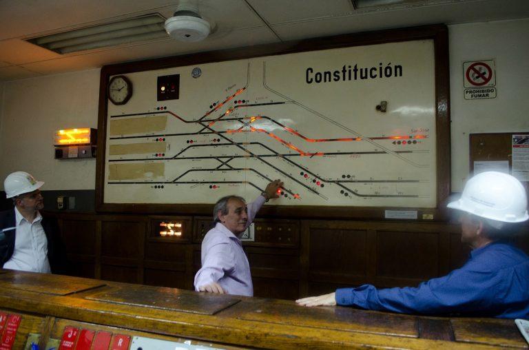 La vieja sala de señales de Constitución dejará de existir para cuando entre en operación el CBTC (2018).
