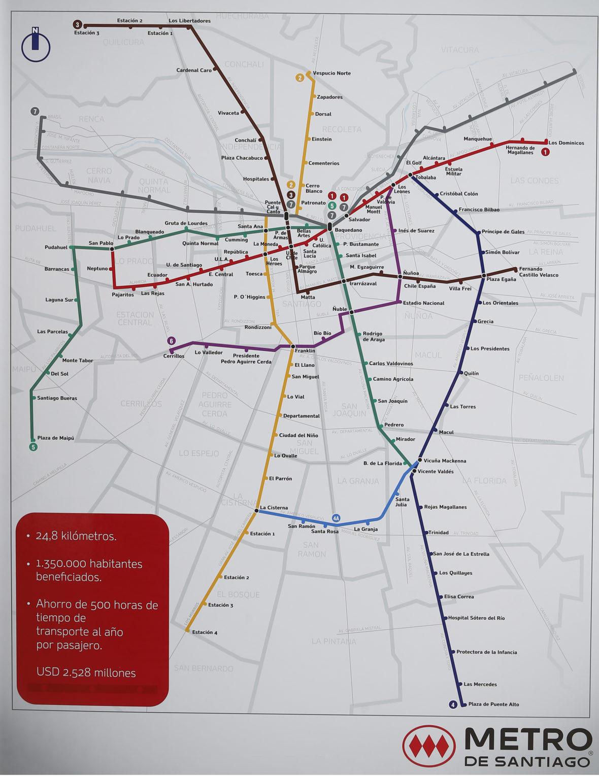 Anuncian La Construccion De La Linea 7 Del Metro De Santiago