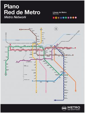 Red proyectada del Metro de Santiago