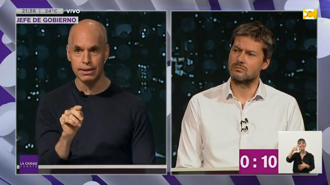 Larreta y Lammens en el debate