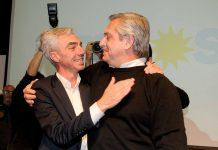 Alberto Fernández y Mario Meoni