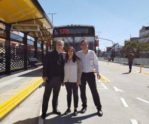 Manuela López Menéndez en el Metrobus de Florencio Varela